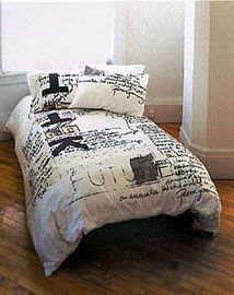 Sleeping with the enemy, Peter Greenaway Bed Linens. image: bonswit.com