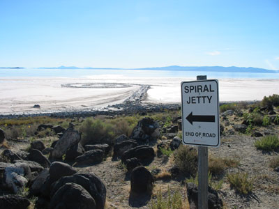 Spiral Jetty sign